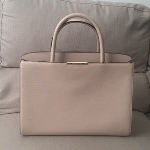 Tan kate spade pebbled leather work tote!